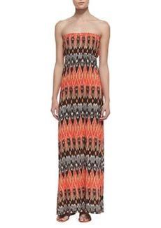Joie Ruma Ikat-Print Jersey Maxi Dress
