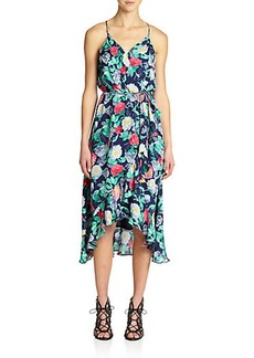 Joie Ruzenza Silk Floral-Print Dress