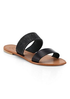 Joie Sable Jeweled Leather Sandals