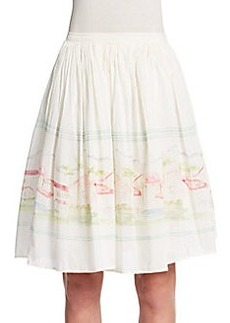 Joie Sacha Cotton & Silk Skirt