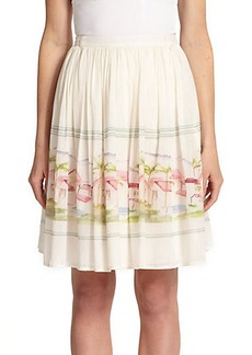 Joie Sacha Printed Cotton & Silk Skirt