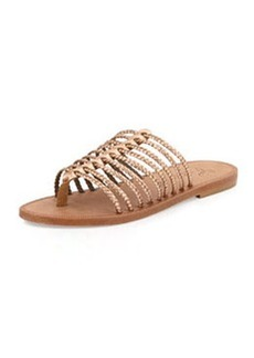 Joie Sahara Metallic Gladiator Slide Sandal, Rose Gold