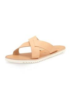 Joie San Remo Leather Crisscross Slide Sandal, Natural