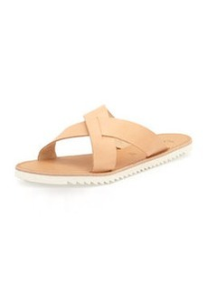 Joie San Remo Leather Crisscross Slide Sandal, Natural
