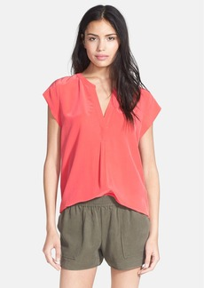 Joie 'Selenite' Split Neck Silk Top