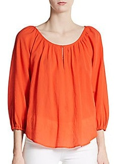 Joie Sharpelle Cotton Blouse