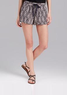 Joie Shorts - Layana B Ikat Print Silk