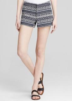 Joie Shorts - Merci Ethnic Diamond Tweed Navy