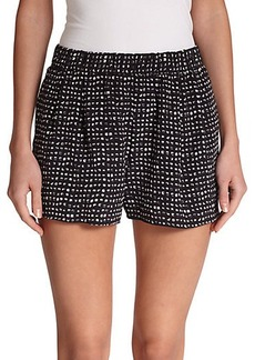 Joie Sibylle Silk Printed Shorts