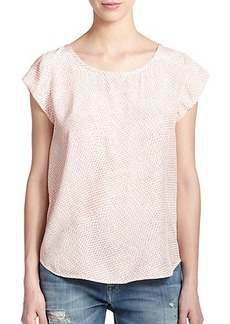 Joie Silk Feather-Print Top