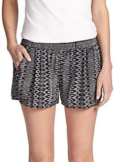 Joie Silk Ikat Percier Shorts