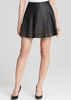 Joie Skirt - Senica Laser Cut Leather
