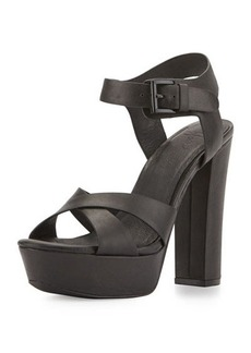 Joie Skylar Leather Platform Sandal, Black