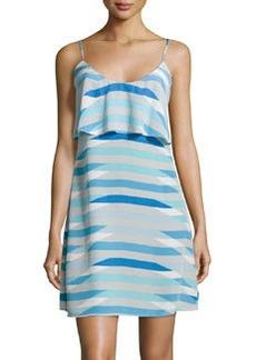 Joie Sleeveless Parthena Geometric Shift Dress, Oasis