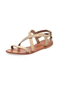Joie Socoa Strappy Leather Sandal, Rose Gold