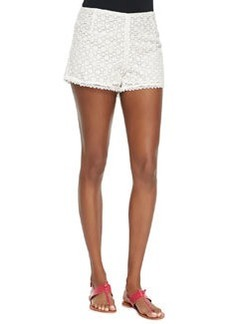 Joie Somme Floral-Lace Shorts