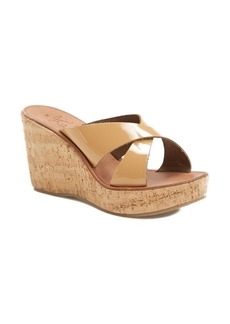 Joie 'Stinson' Patent Leather Wedge Sandal (Women)