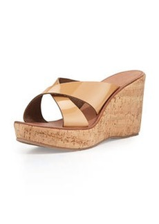 Joie Stinson Patent Wedge Sandal, Nude