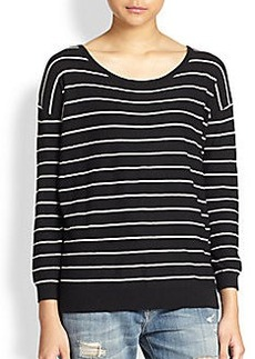 Joie Striped Boatneck Sweater