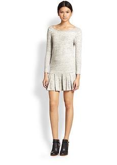 Joie Tala Drop Waist Space-Dyed Cotton Dress