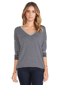 Joie Talida V Neck Sweater in Navy