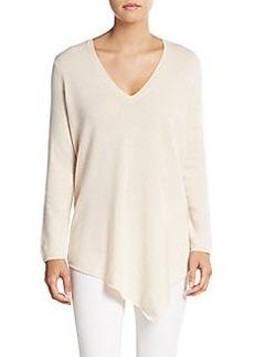 Joie Tambrel Wool & Cashmere Asymmetrical Draped Sweater