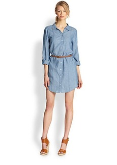 Joie Tarellia Chambray Belted Shirtdress