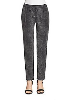 Joie Tashira Silk Dot Track Pants