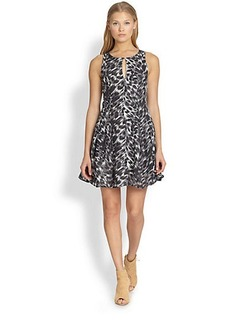 Joie Tavie Printed Silk Dress