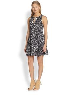 Joie Tavie Printed Silk Dress