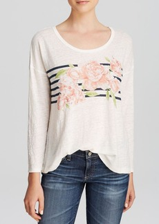 Joie Tee - Caileen Stripe Floral