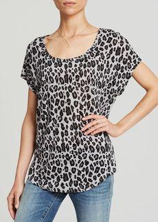 Joie Tee - Maddie Animal Print Linen Slub