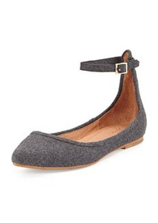 Joie Temple Flannel Ankle-Strap Flat
