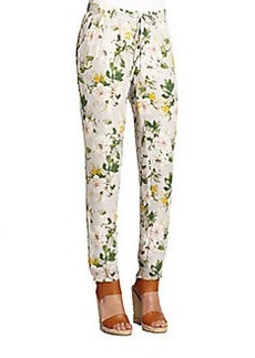 Joie Theron Printed Silk Track Pants