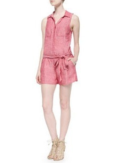 Joie Toinette Sleeveless Linen Short Jumpsuit