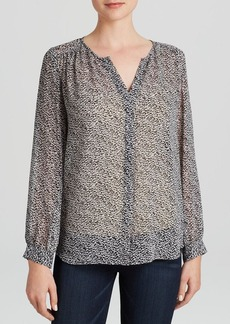 Joie Top - Bellamira Mini Textural Animal Print Silk