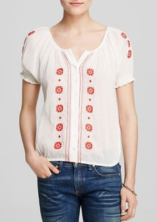 Joie Top - Dolina Embroidered