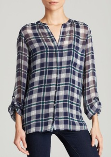 Joie Top - Nura Plaid Georgette