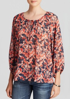 Joie Top - Rochan Whimsical Watercolor Floral Silk
