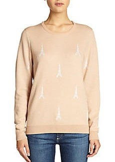 Joie Valera Eiffel Tower-Print Sweater