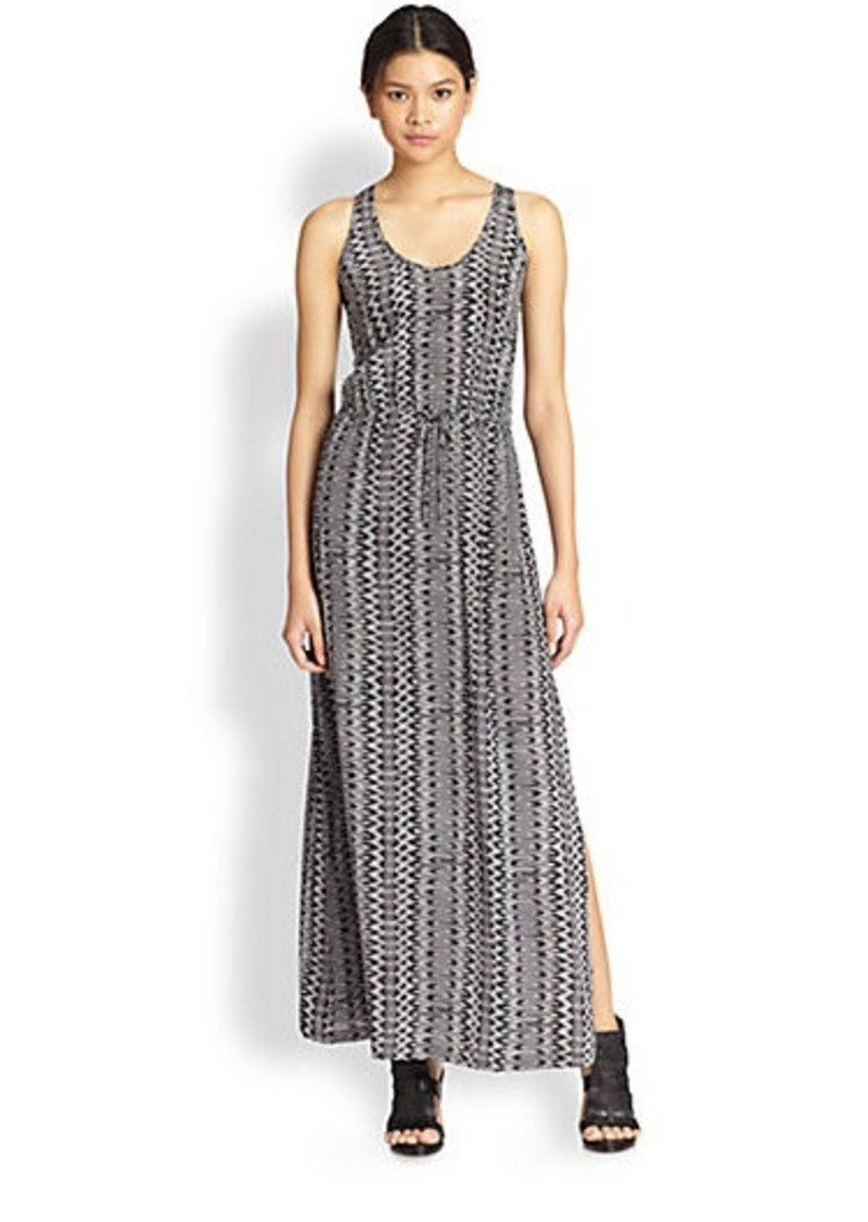 Joie Vanetta Ikat-Print Silk Maxi Dress
