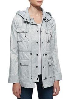 Joie Vera Jane Hooded Jacket, Silver Fox