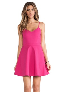 Joie Viernan Cotton Pique Dress in Fuchsia