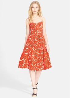 Joie 'Vivany' Print Silk & Linen A-Line Midi Dress