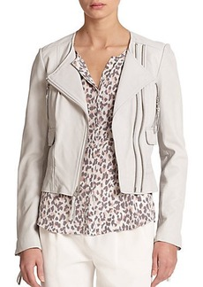Joie Vivianette Cropped Leather Jacket