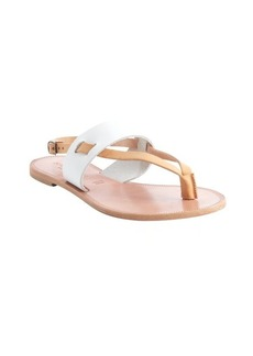 Joie white faux leather T-strap sandals