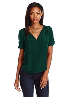 Joie Women's Amone Silk Short Sleeve Blouse