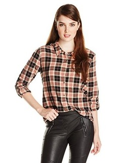 Joie Women's Anabella Plaid Print Long Sleeve Blouse
