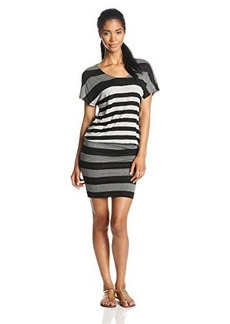 Joie Women's Brix Striped Jersey Blouson Dress