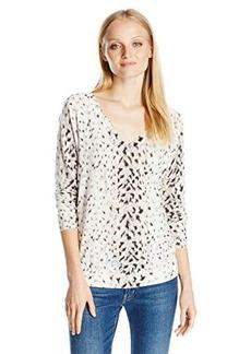Joie Women's Brooklyn Snow Leopard Print Pullover Sweater